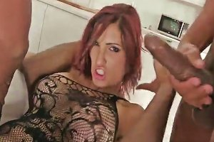 Beautiful Redhead Loves To Swallow Black Juice Porn Videos
