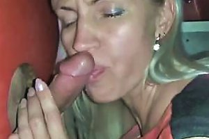 Inexperienced Blondie Mummy Blows Stranger At Gloryhole One Drtuber