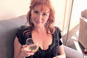 Redhead Wife Teases In Tight Blue Jeans