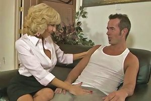 Mature Woman With Huge Tits Rides Her Lover's Dick In Cowgirl Position