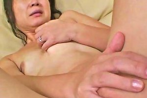 Mature Asian Bitch Loves Getting Her Shaved Muff Vibrated After Work