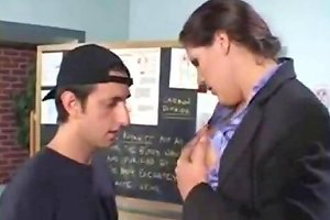 Big Boobs Teacher Gets Physical