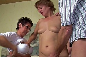 Mature Grannies Siphon The Single Cumshooter For Cumin A Fascinating Old Parties Threesome