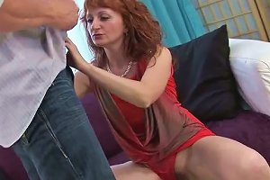 Whore Wife Gives Yum Yum Blowjob To One Young Dude While Her Husband Is Out