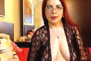 This Naughty Red Haired Cougar Is Worth Seeing And She Got Them Titties