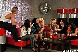 Group Of Lesbian Babes Seeking Enjoyment Having A Lewd Orgy Nuvid